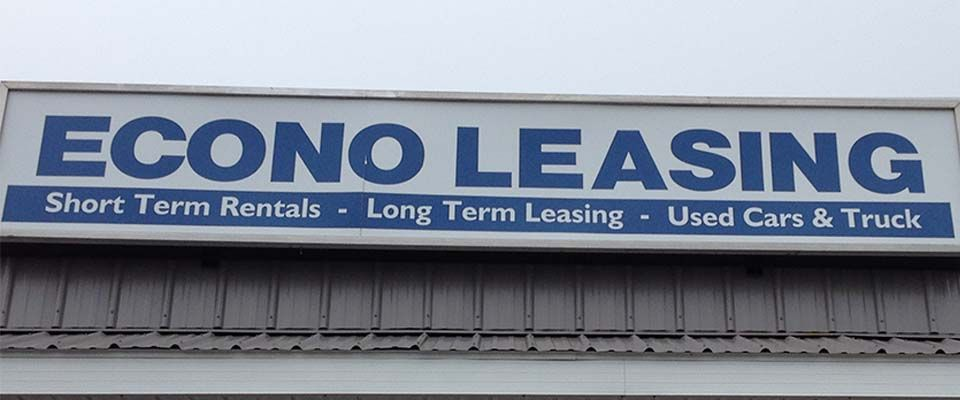 Econo Leasing sign